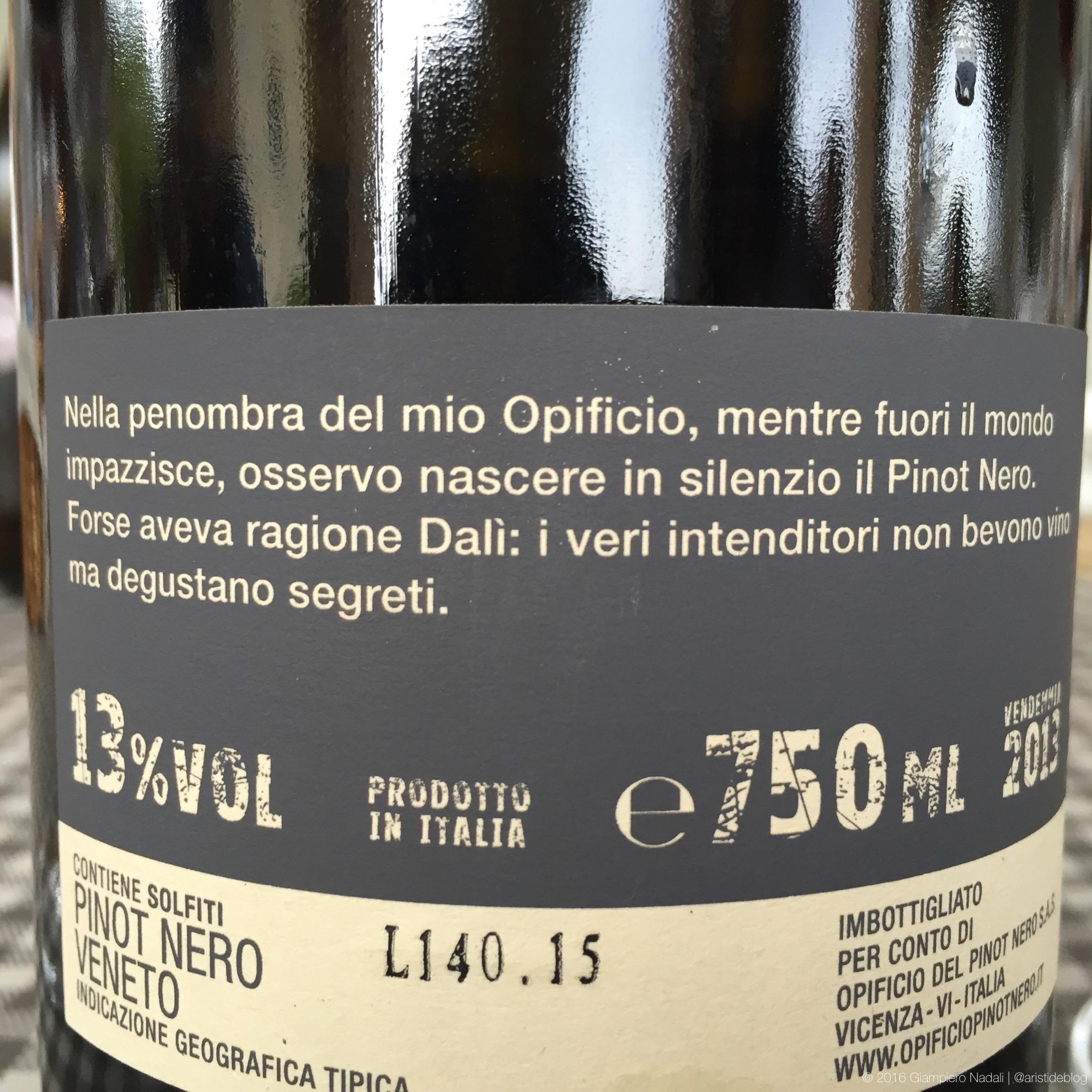 """Interessante la """"retro"""" del Pinot Nero"""