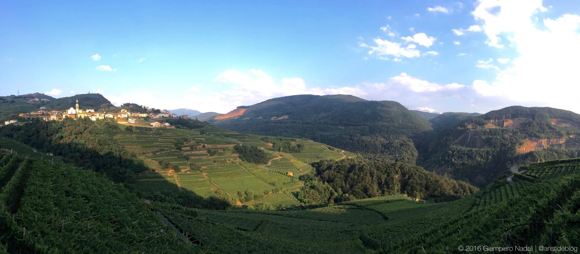Giovo, Val di Cembra, e i vigneti di montagna
