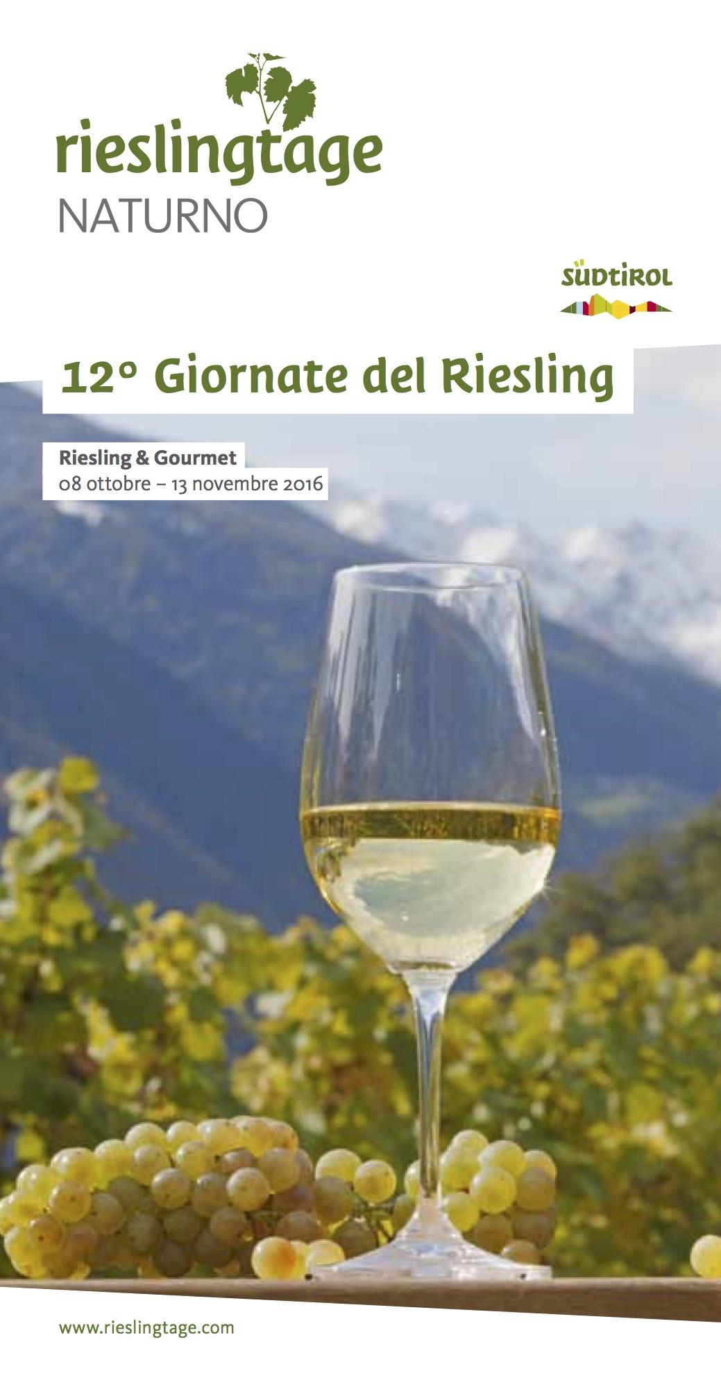 La XII edizione delle Giornate del Riesling come sempre promette un variegato programma, manifestazione che inaugura anche l'Autunno Gourmet di Naturno. Cliccate sull'immagine per scaricare il programma.