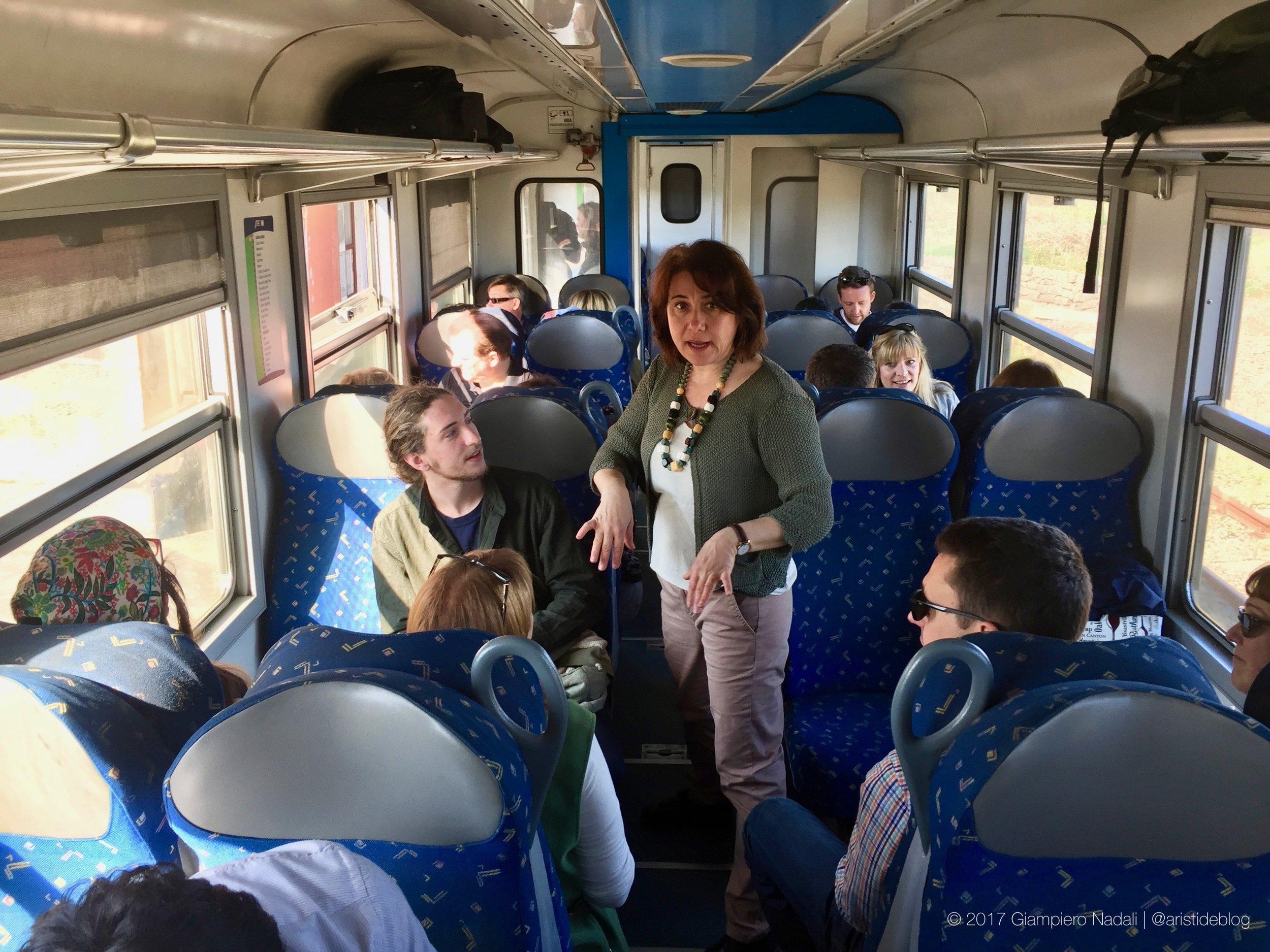 Valeria Càrastro, sul Treno dei Vini dell'Etna