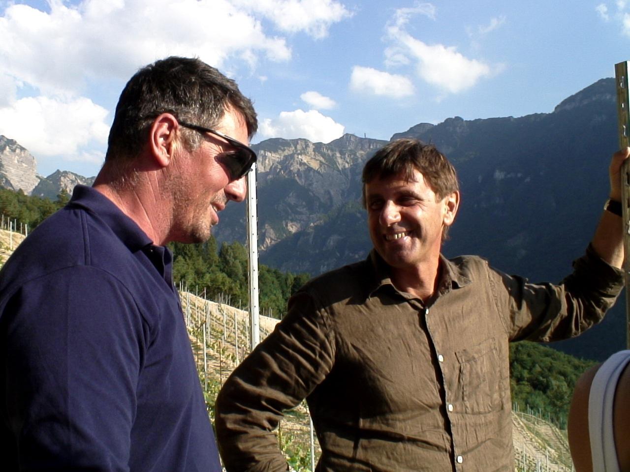 Giuseppe Tognotti (sinistra) e Albino Armani