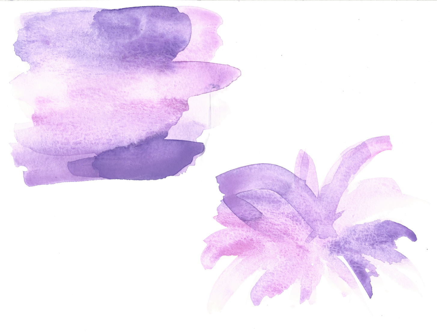 The original watercolor designs I painted for this project, straight off the scanner!