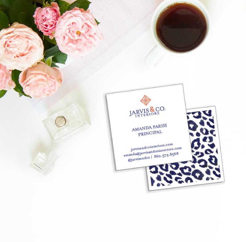 Gorgeous business card - love that leopard print!