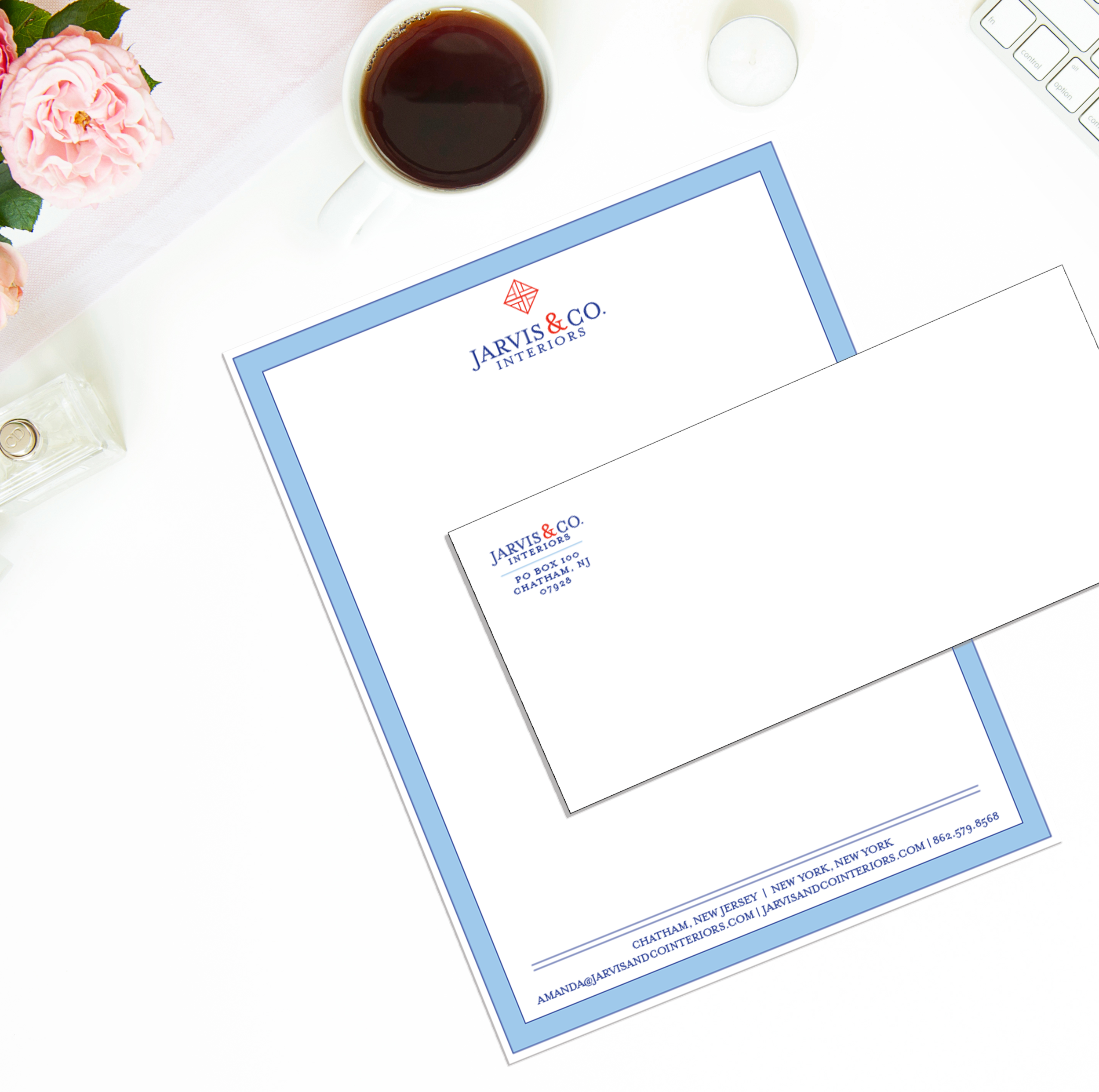 Jarvis & Co. letterhead and envelopes for sending out official letters and invoices! Get that paper, girl.