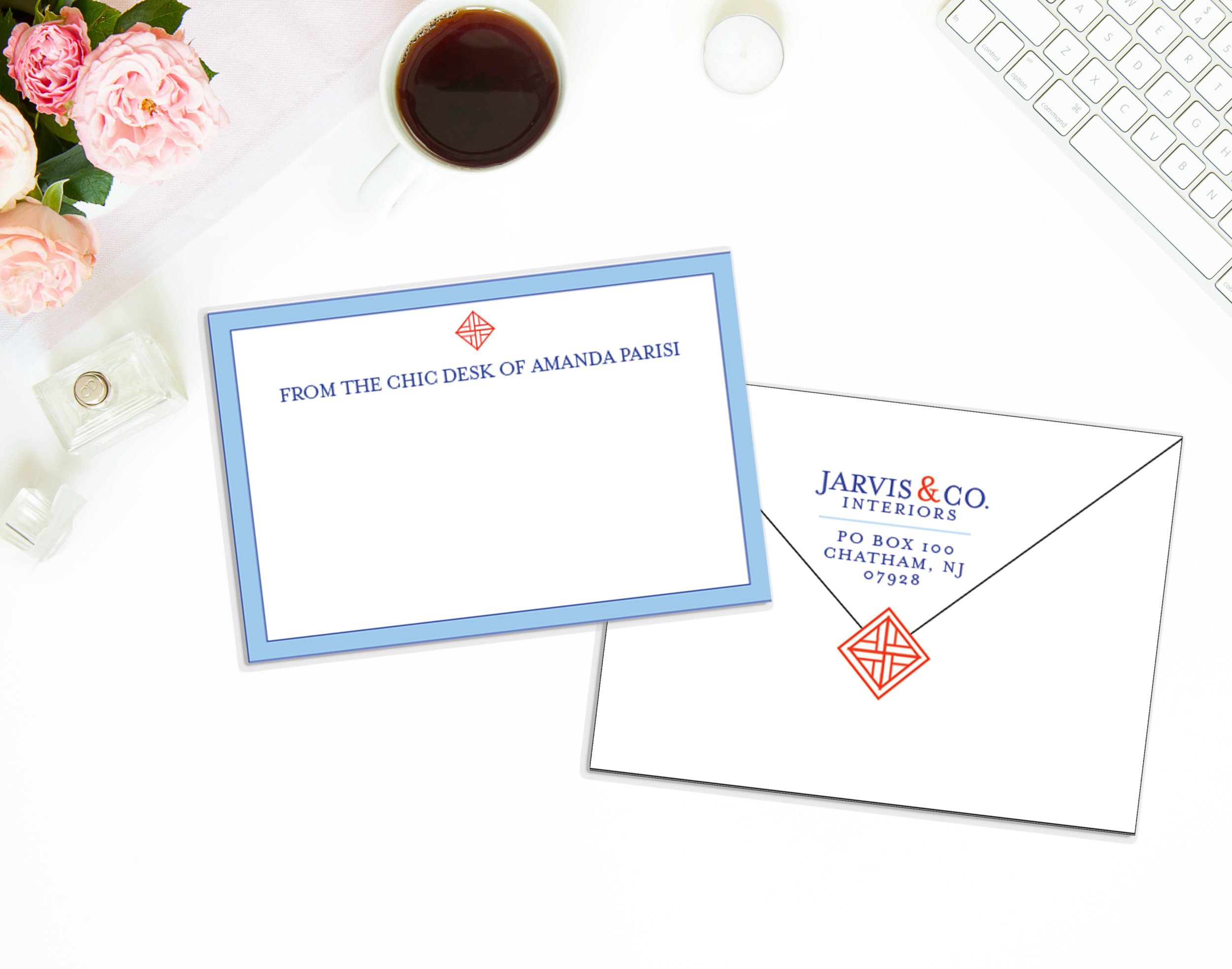 Cute stationery for writing thank you notes and messages to clients and vendors!