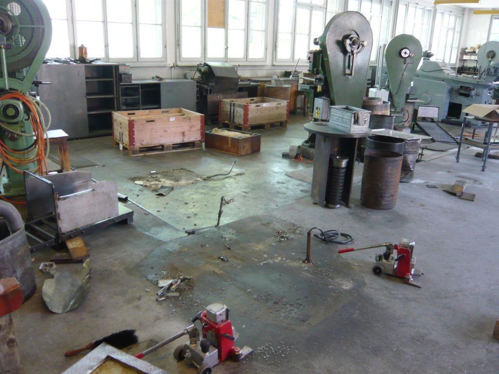 L'ancien parc machines de la Fabrique durant le déménagement