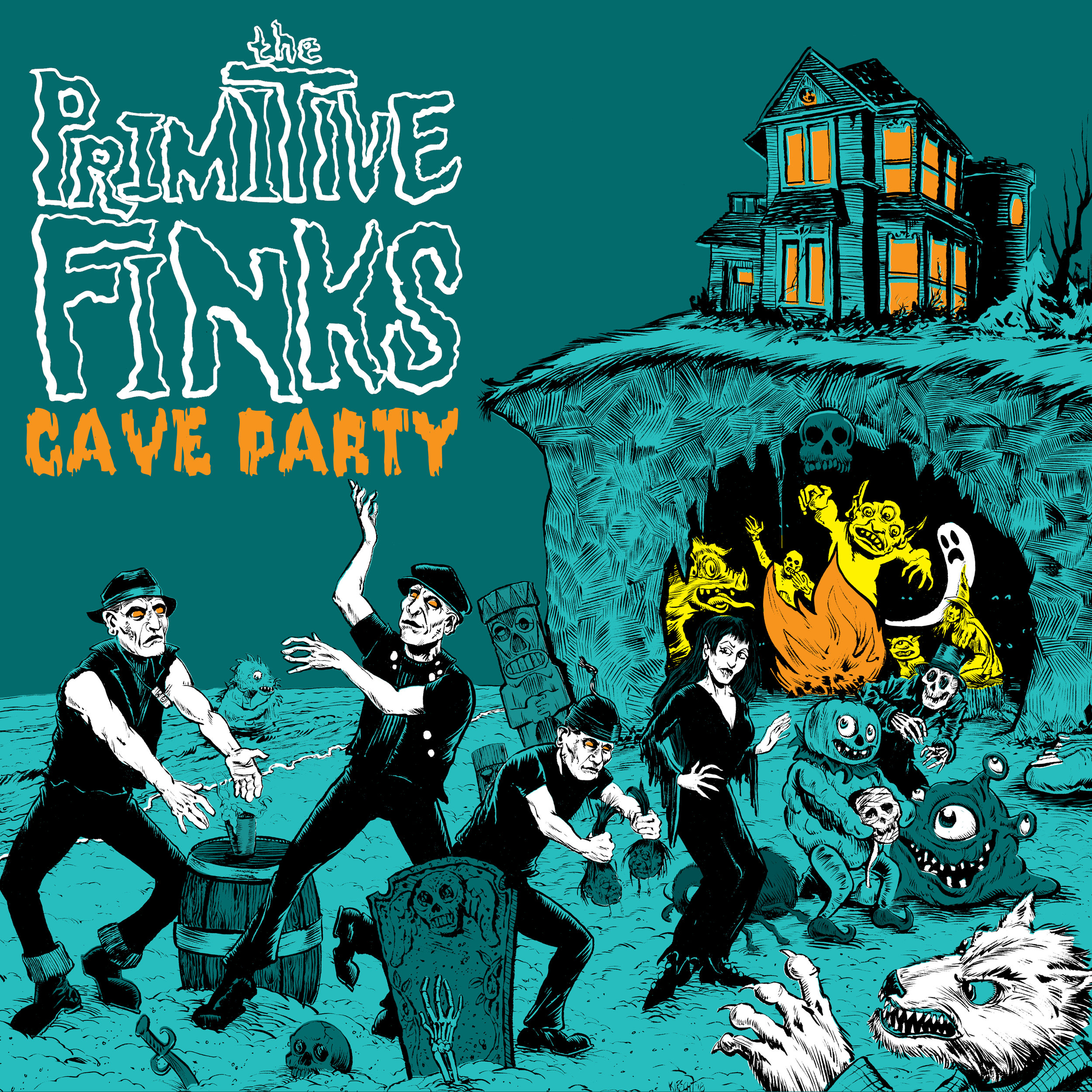"THE PRIMITIVE FINKS  ""Cave Party"" (HT-021) Format: LP, Digital"