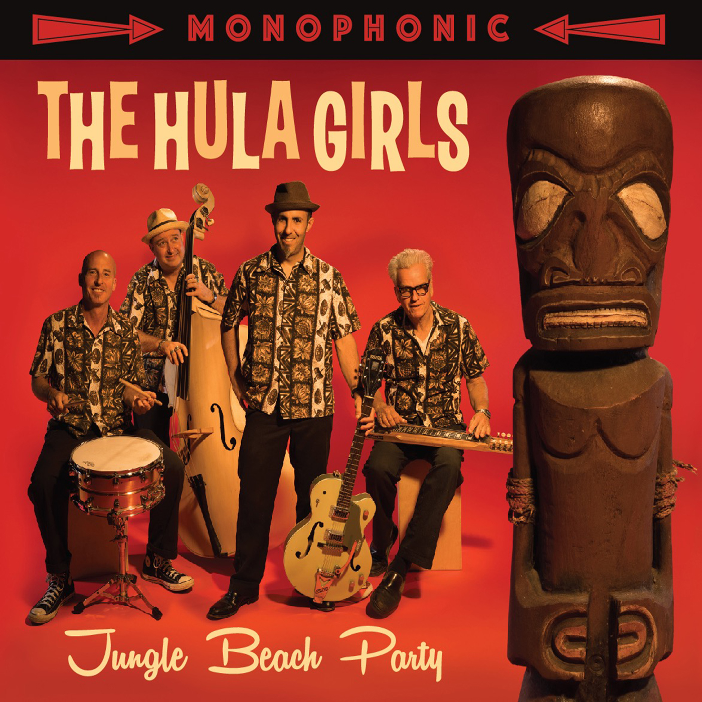 "THE HULA GIRLS  ""Jungle Beach Party"" (HT-026) Format: LP, CD, Digital"