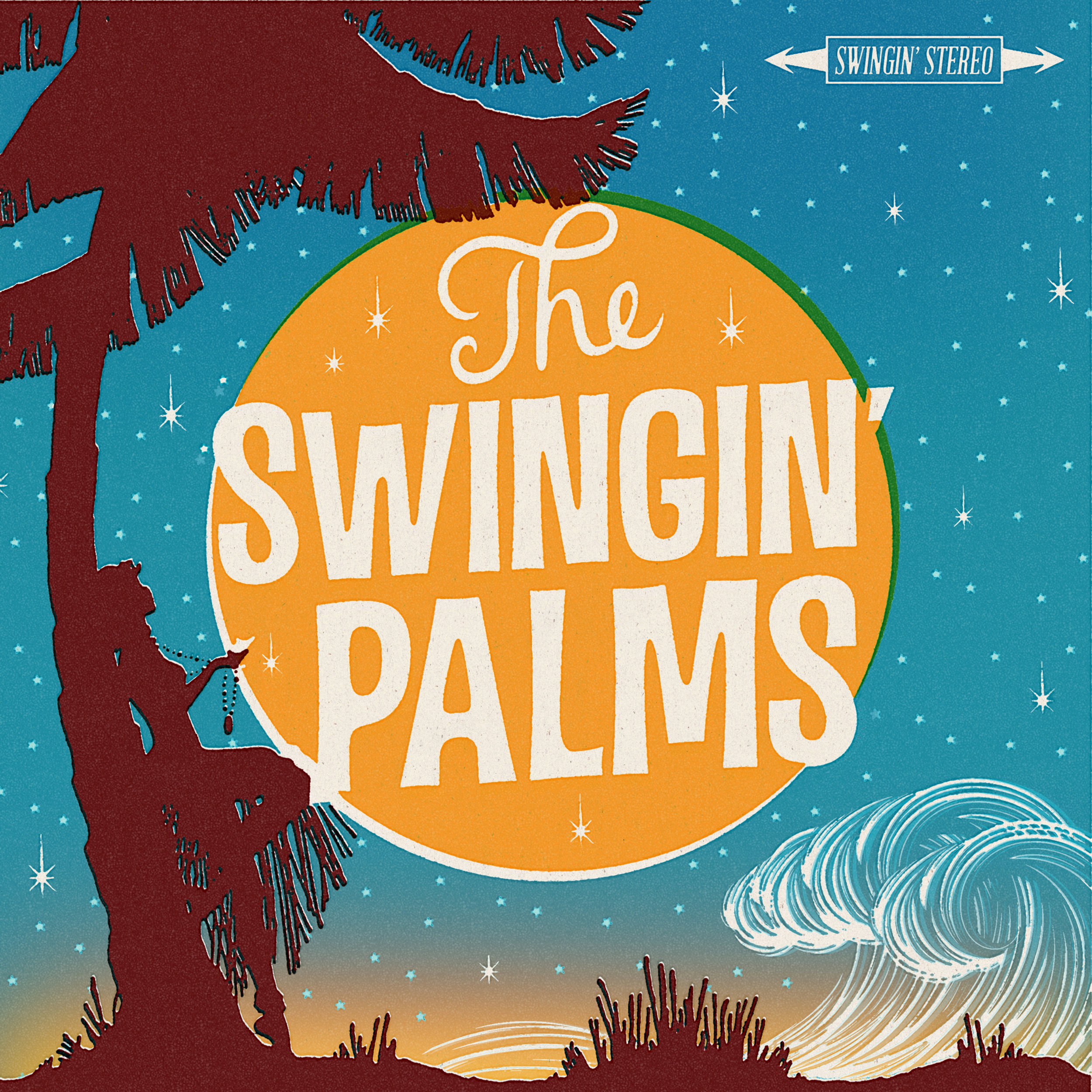 "THE SWINGIN' PALMS  ""The Swinging' Palms"" - EP (HT-033) Format: 7"" Vinyl, Digital"