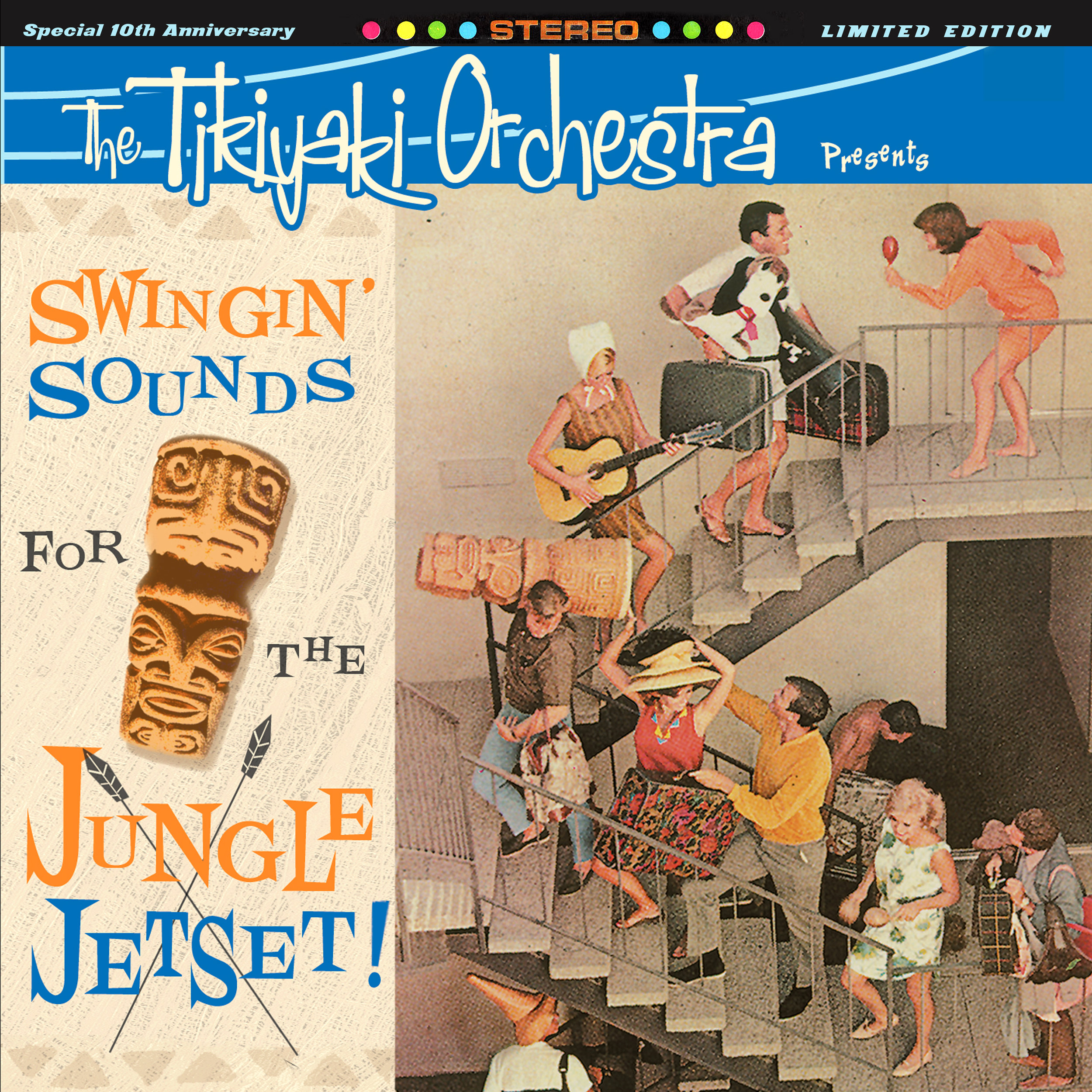 "THE TIKIYAKI ORCHESTRA  ""Swingin' Sounds for the Jungle Jetset!"" (HT-043) Format: LP"