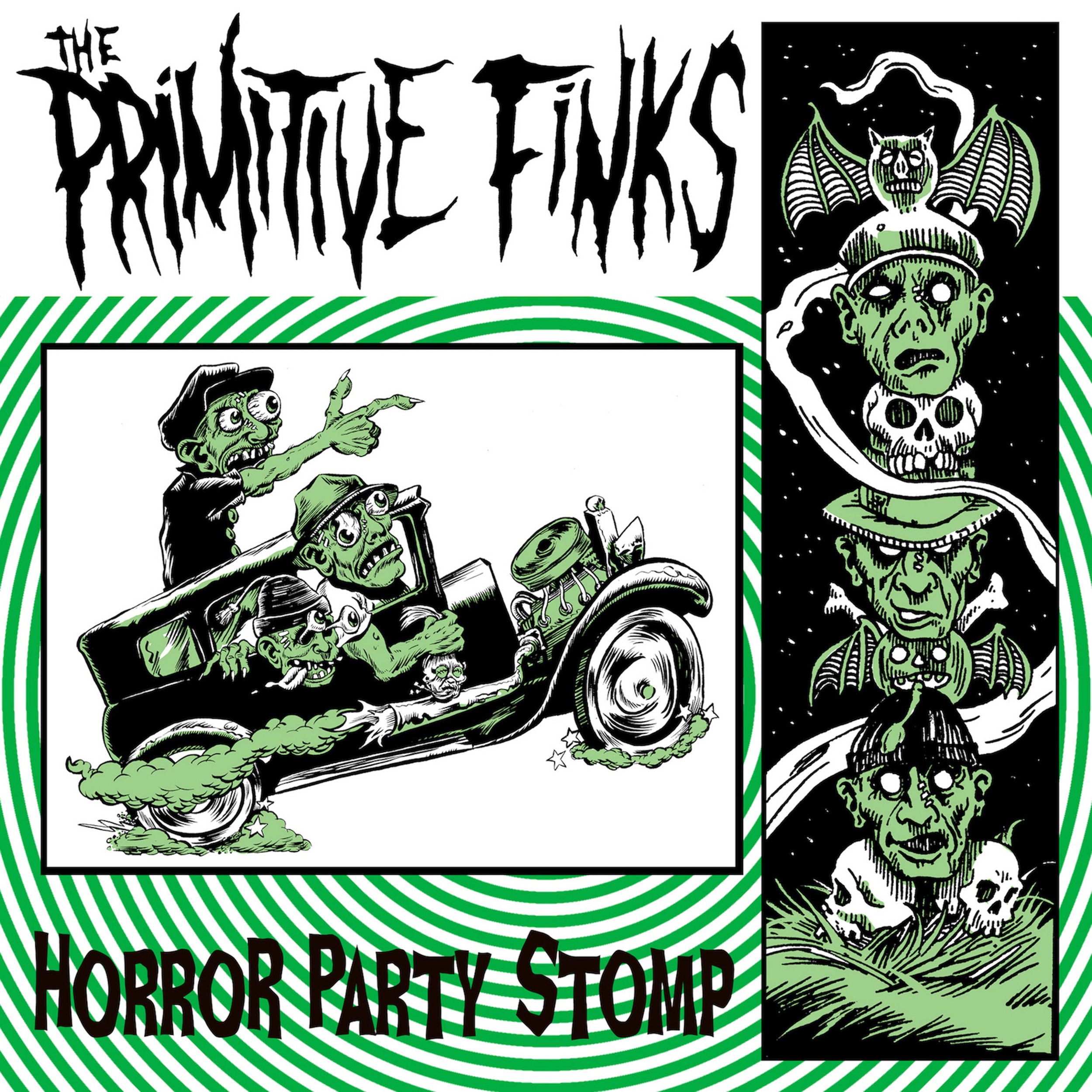 "THE PRIMITIVE FINKS  ""Horror Party Stomp"" - EP (HT-009) Format: 7"" Vinyl, Digital"
