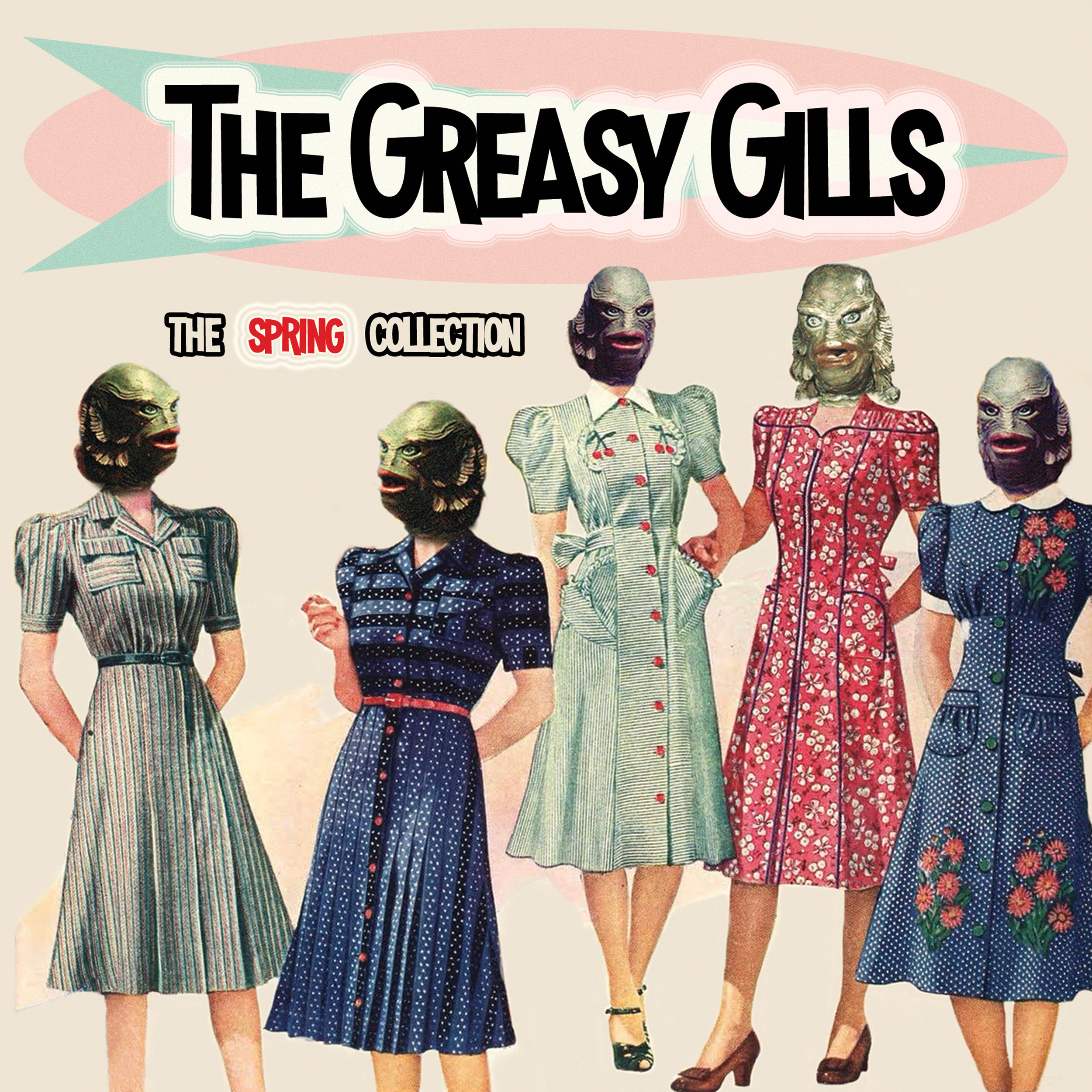 """THE GREASY GILLS  """"The Spring Collection"""" - EP (HT-042) Format: 7"""" Vinyl, Digital"""