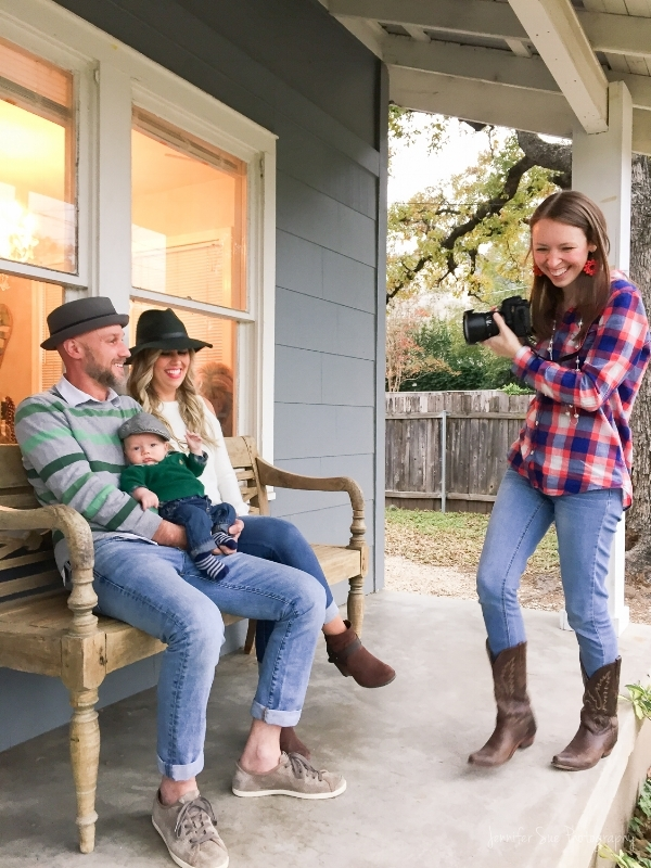 A behind the scenes look at a family in-home session.