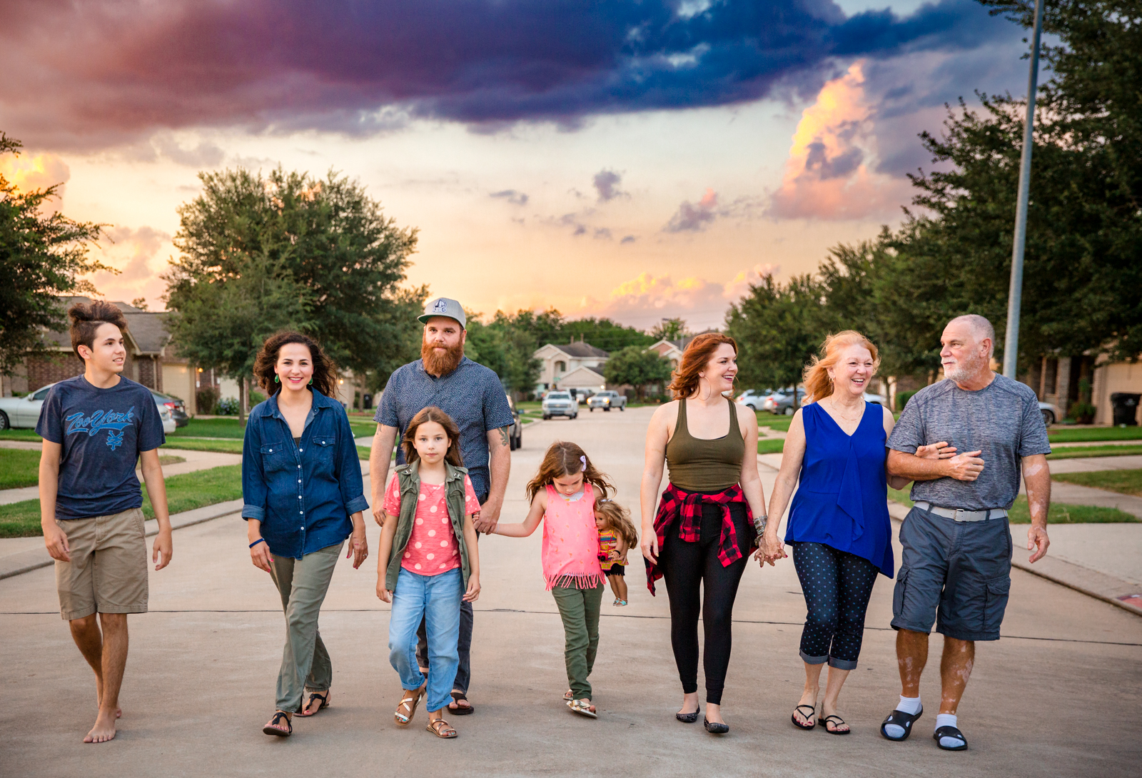 Extended Family Portrait from an In-home Session