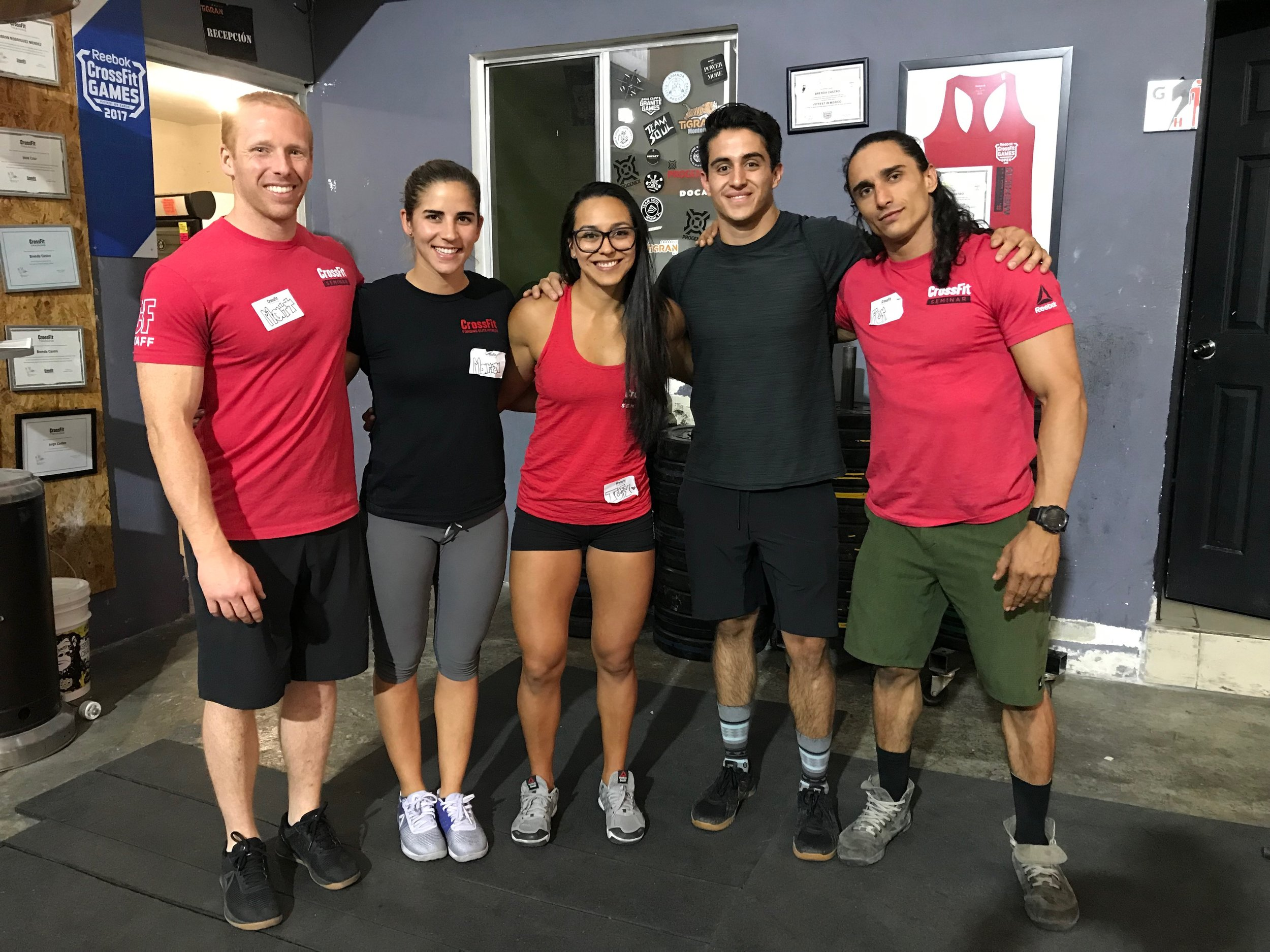 CrossFIt athlete and coach David Yannelli Toca, second from left.
