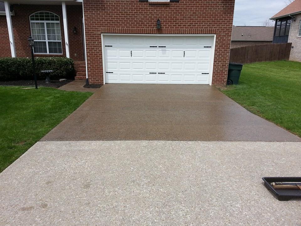 Half Sealed Driveway