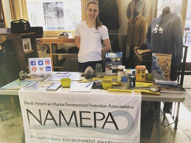 We are tabling at Patagonia Westport today, presenting NAMEPA's educational materials and marine debris display! We are one of Patagonia's environmental grantees, and we are grateful to continue our work with them. Come visit us! For more, check out our Patagonia Action Works page: https://www.patagonia.com/actionworks/grantees/namepa/. #SaveOurSeas #Patagonia