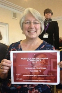 Cecilia Jevitt at the Normal Labour & Birth Conference