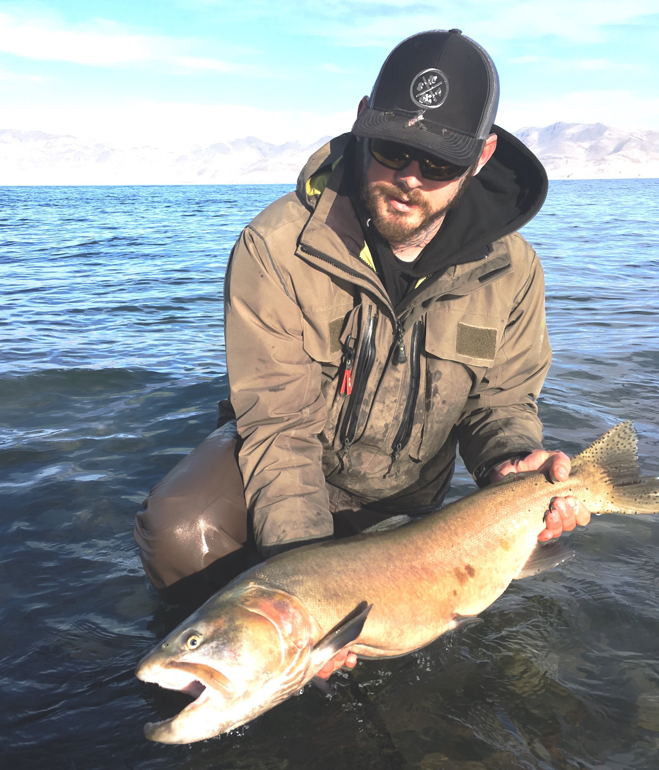 Casey with a giant cutthroat