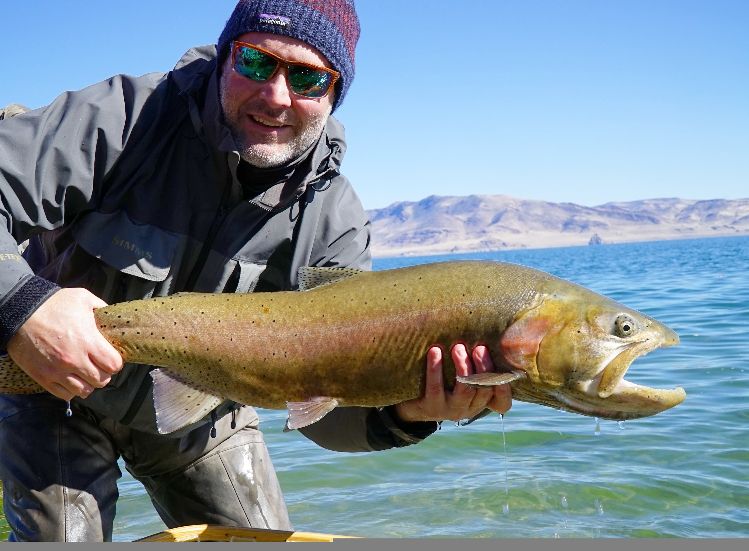 Allen Mann with a healthy Lahontan from last week