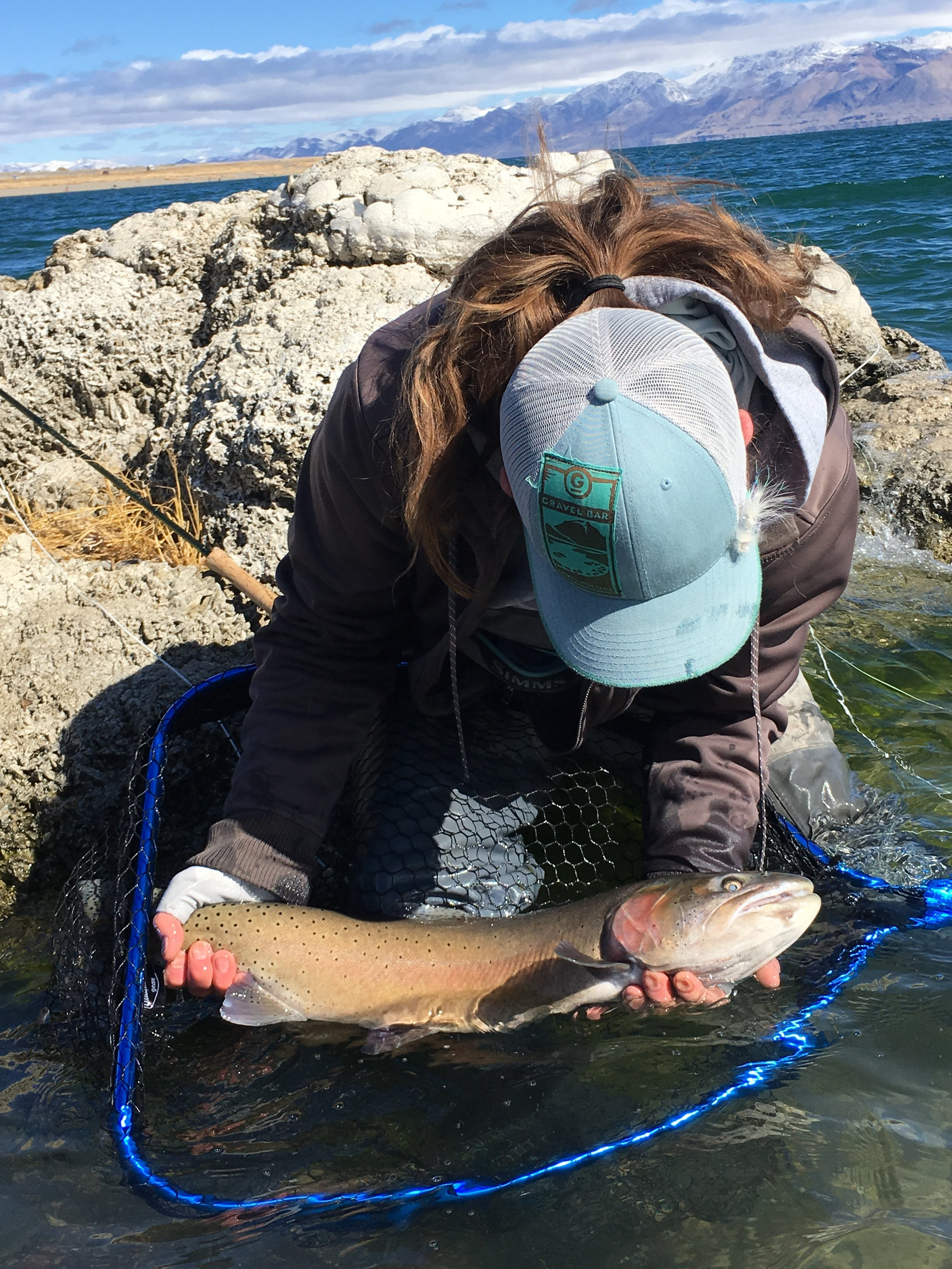 Come to mommy. Kelly cradling a nice Cutty.                            Photo Capt Rob