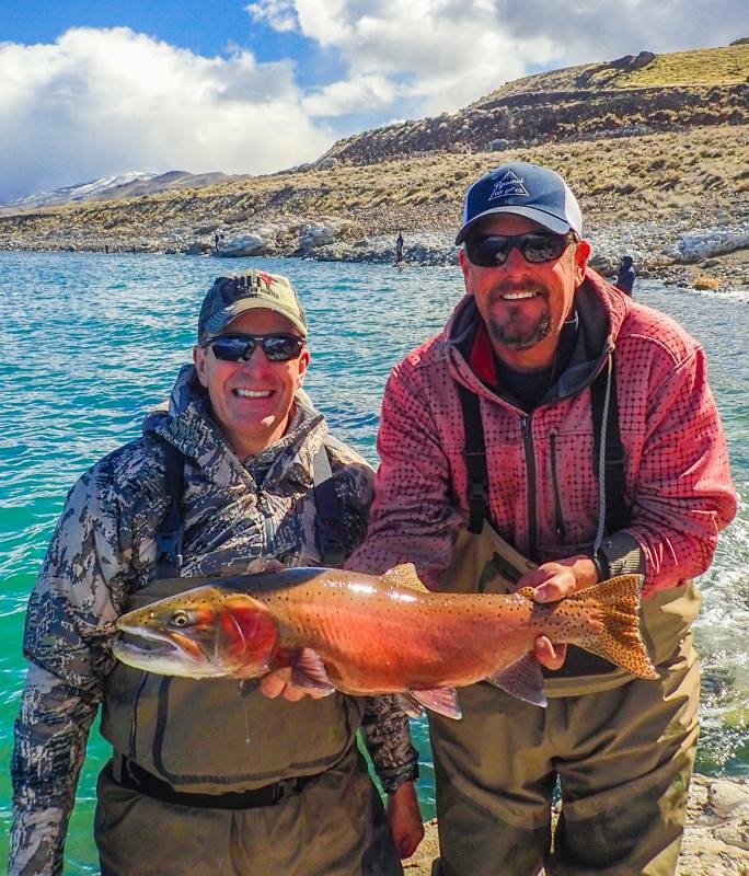Mark and Capt Rob enjoying a great day fishing together.