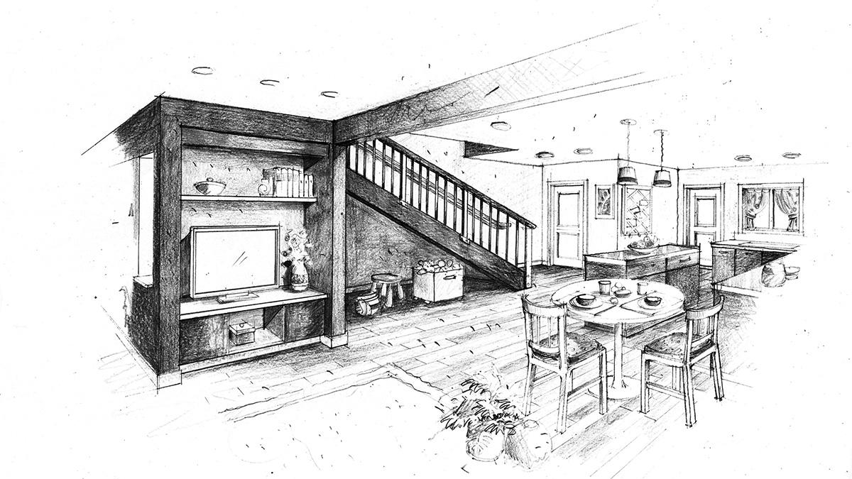Interior Color Sketch2 bw.jpg