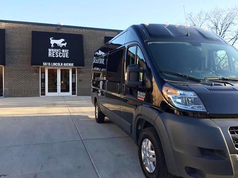 The Wright-Way Rescue North Shore Humane Center is located at 5915 Lincoln Avenue in Morton Grove, Illinois.