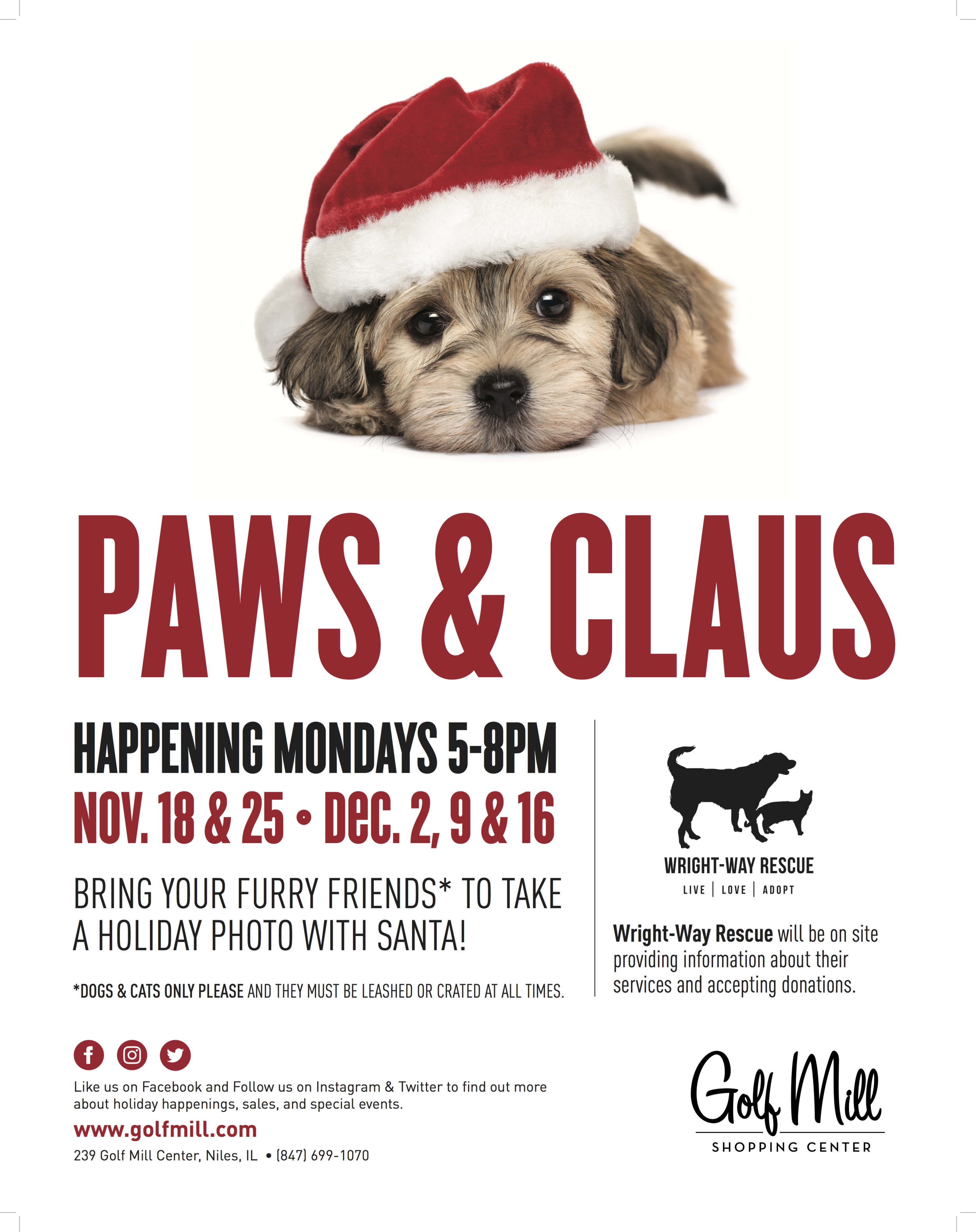 GM 2019-10-08 Paws & Claus Poster_22x28.png