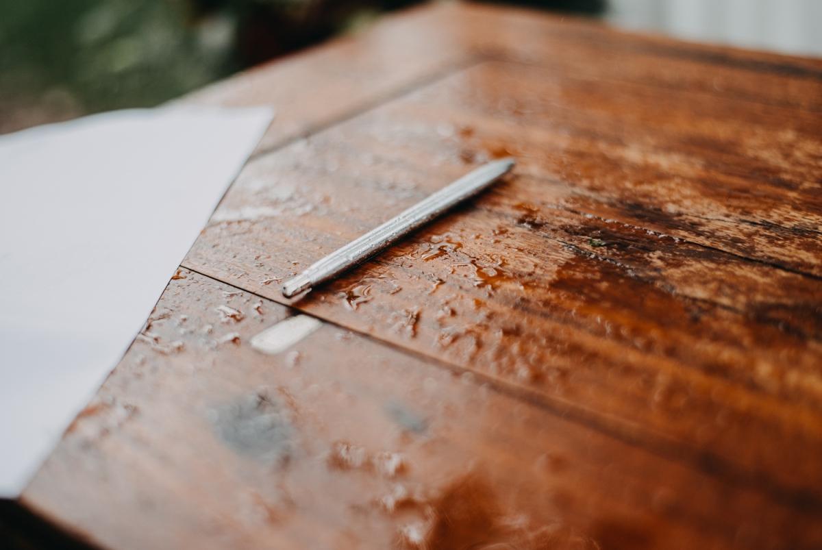 déšť na svatbě