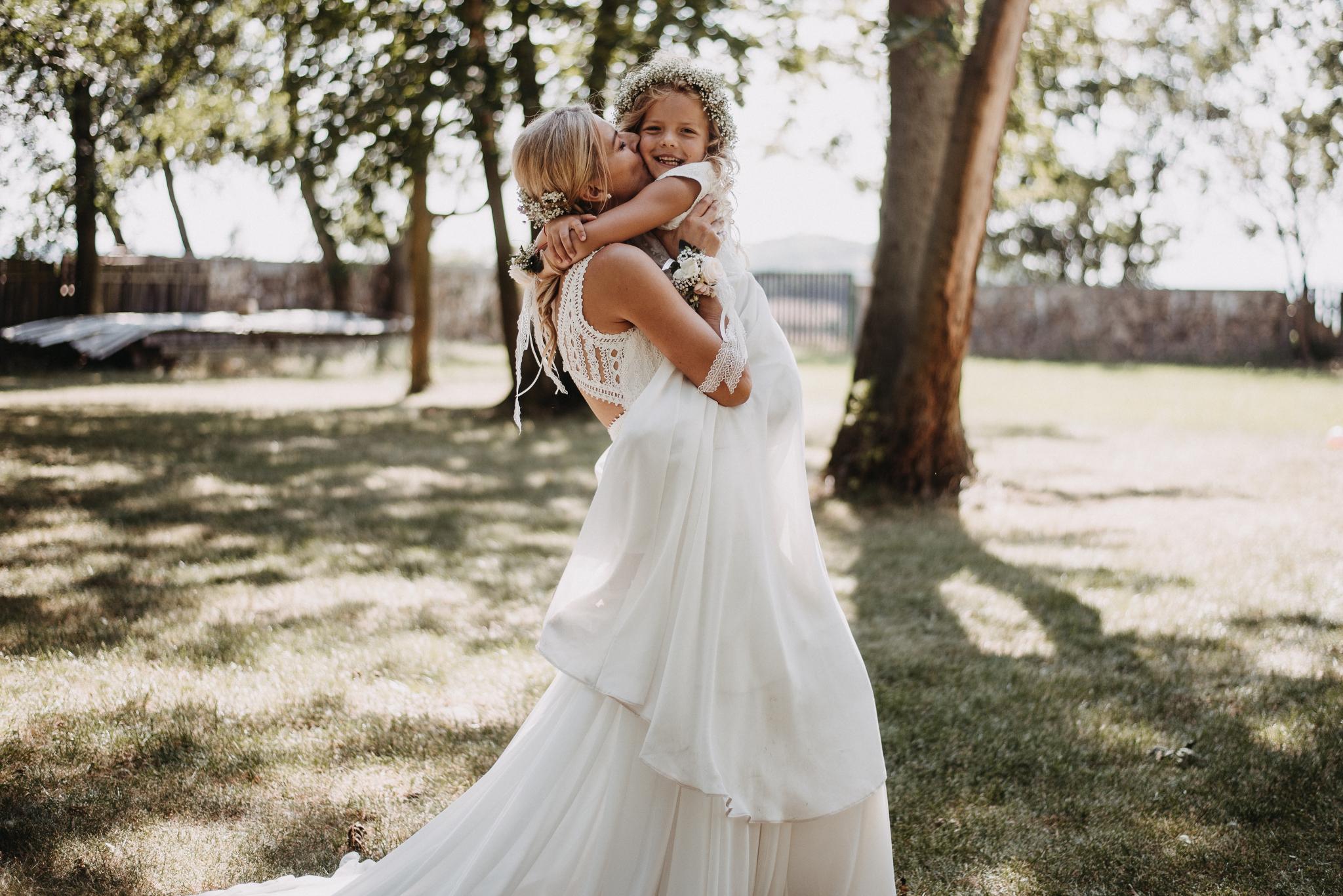 boho svatební šaty pro družičky