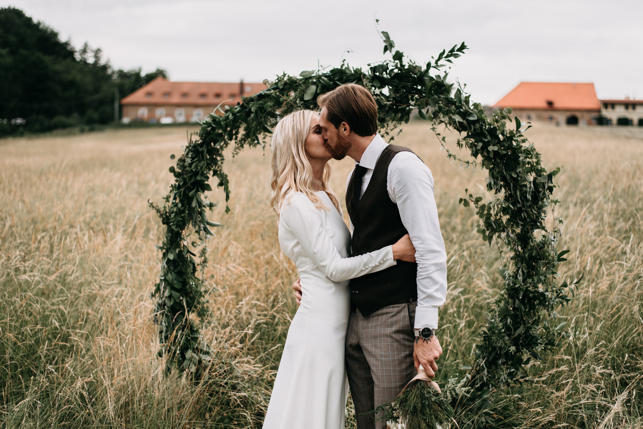 svatební obřad venku