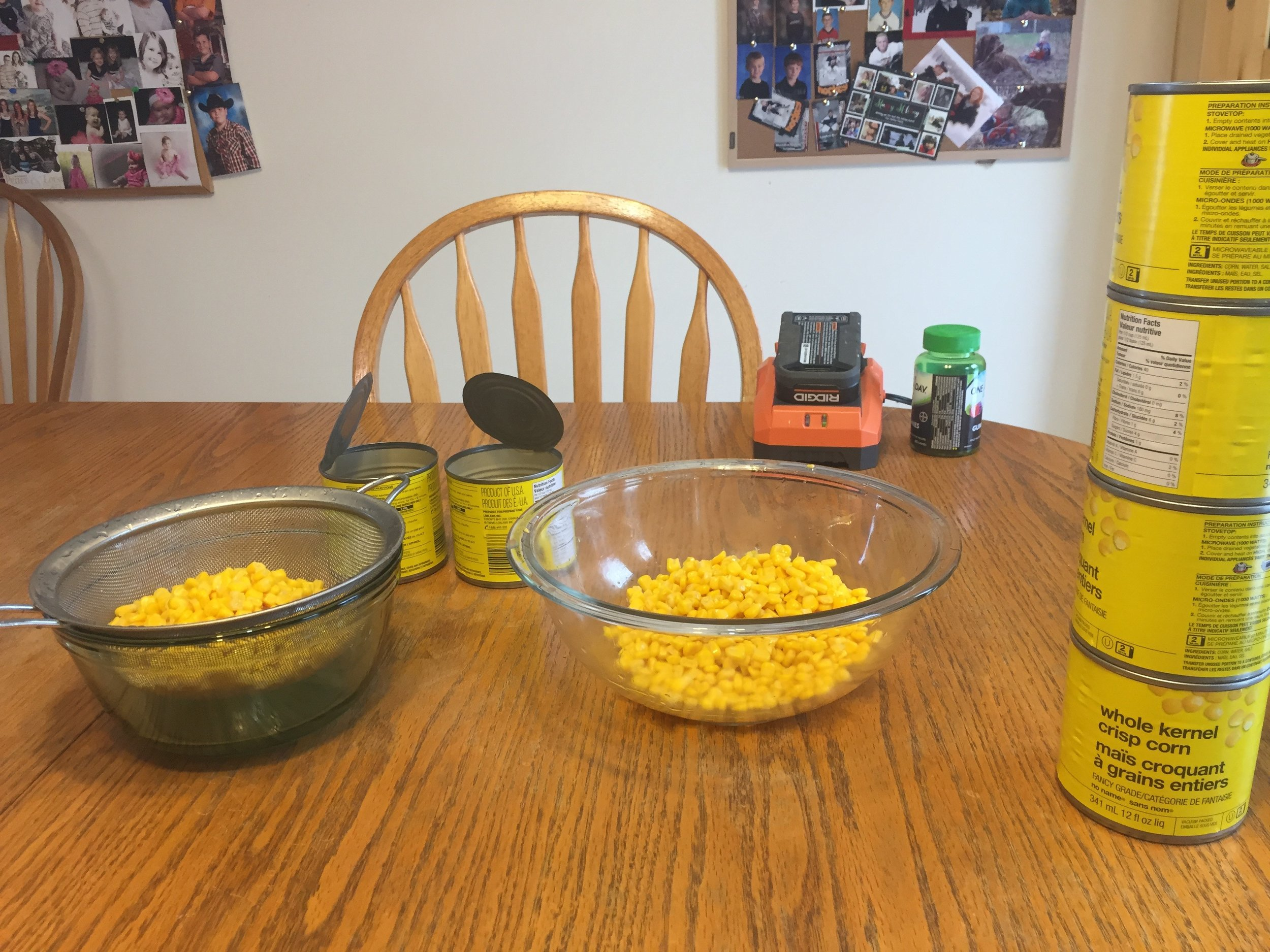 Decided to sit down for the corn. I was getting tired.