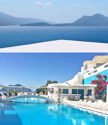 Rejuvenate atAegialis Hotel & Spa - The only 5-star hotel on Amorgos, the Aegialis Hotel & Spa provides privacy, luxurious comfort and spectacular sea views from every room. Our daily yoga and meditation practices are accompanied by the sound of water and the wafting sea breeze. Between the wonderful excursions and spa appointments there is time set aside during your 5 days stay to explore the island's local village and colorful beaches. But, don't be surprise, with a full-service spa, fantastic, azure pool, excellent food and warm & friendly staff staying right where you are might be all you need.