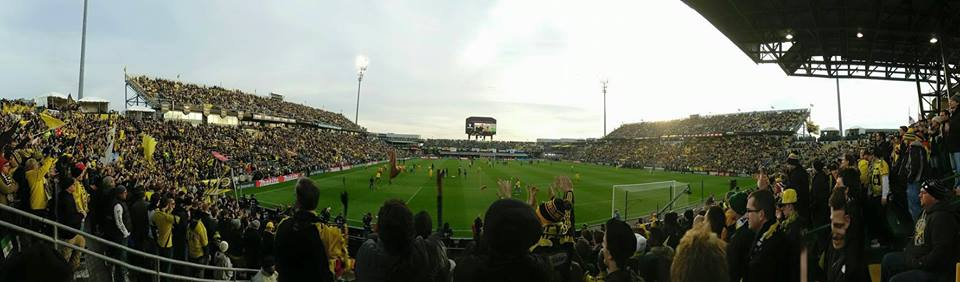 Timbers versus Crew at Crew Stadium from my vantage point during the 2015 MLS Cup.