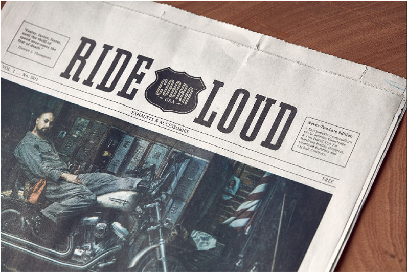 Promotional Design and Advertising - Cobra USA (Newspaper) - Gold