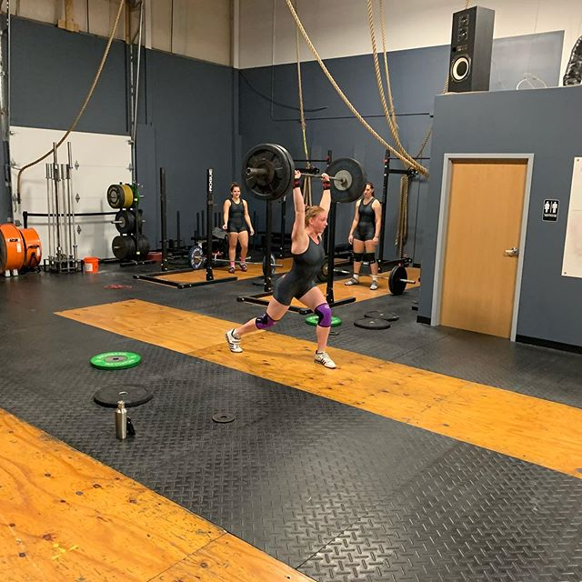 "Mantra girls getting in some final reps before participating in the ""Relentless Open"" in Meadville,Pa. Good luck @gina.smith17 @hallekotch @abby_carile #olympicweightlifting #relentlessopen #strongwoman #crossfit"