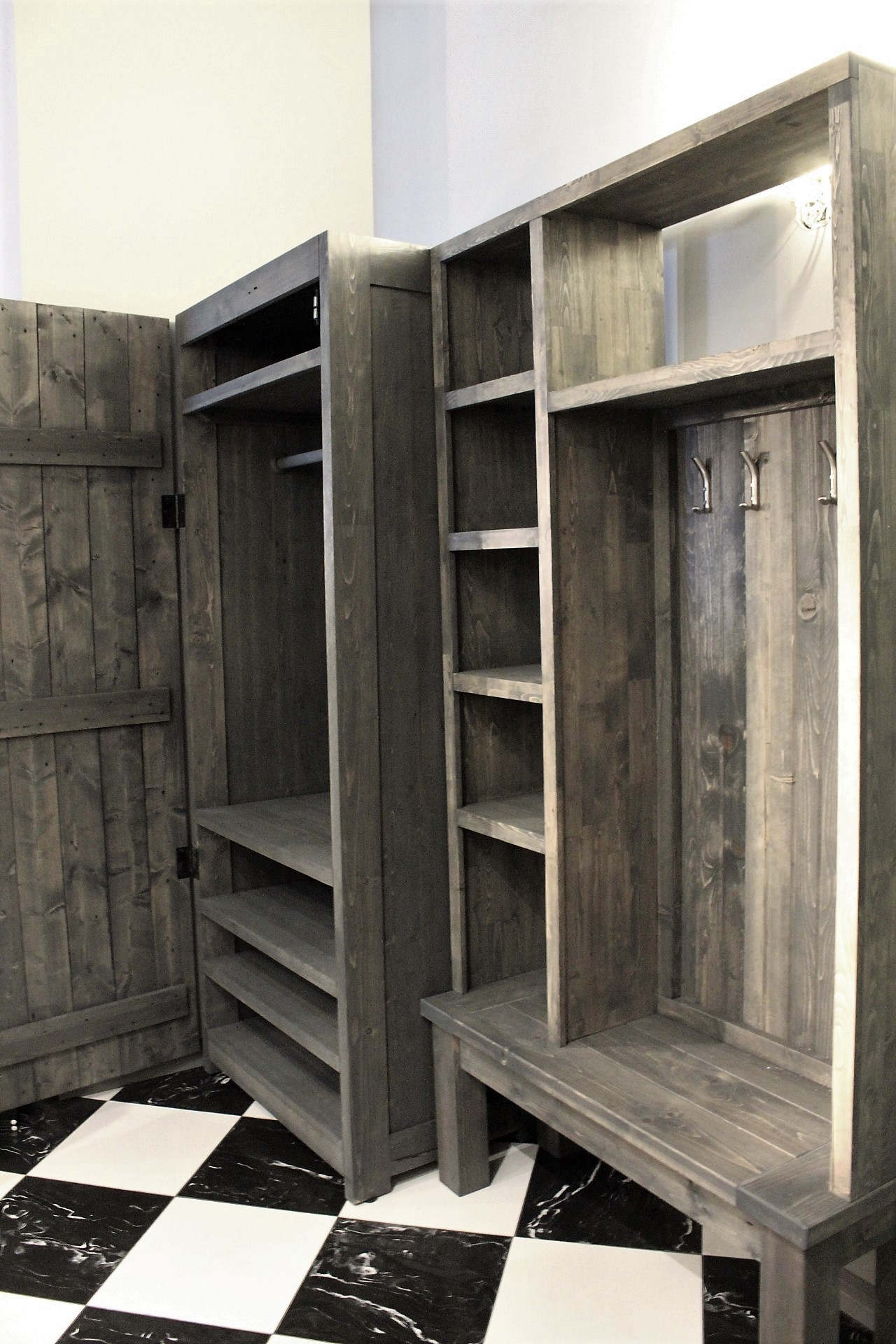 Add a shoe closet - LOTS of storage here for a client with a loft and not so much for built ins.