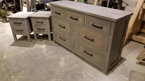 Dresser with side tables