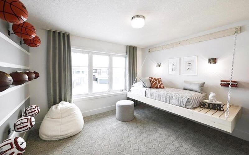 Custom bed made for Full House Lottery