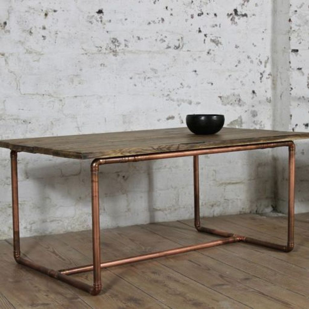 Custom Copper and Wood Table