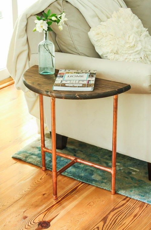 Coffee Half Round Side Table