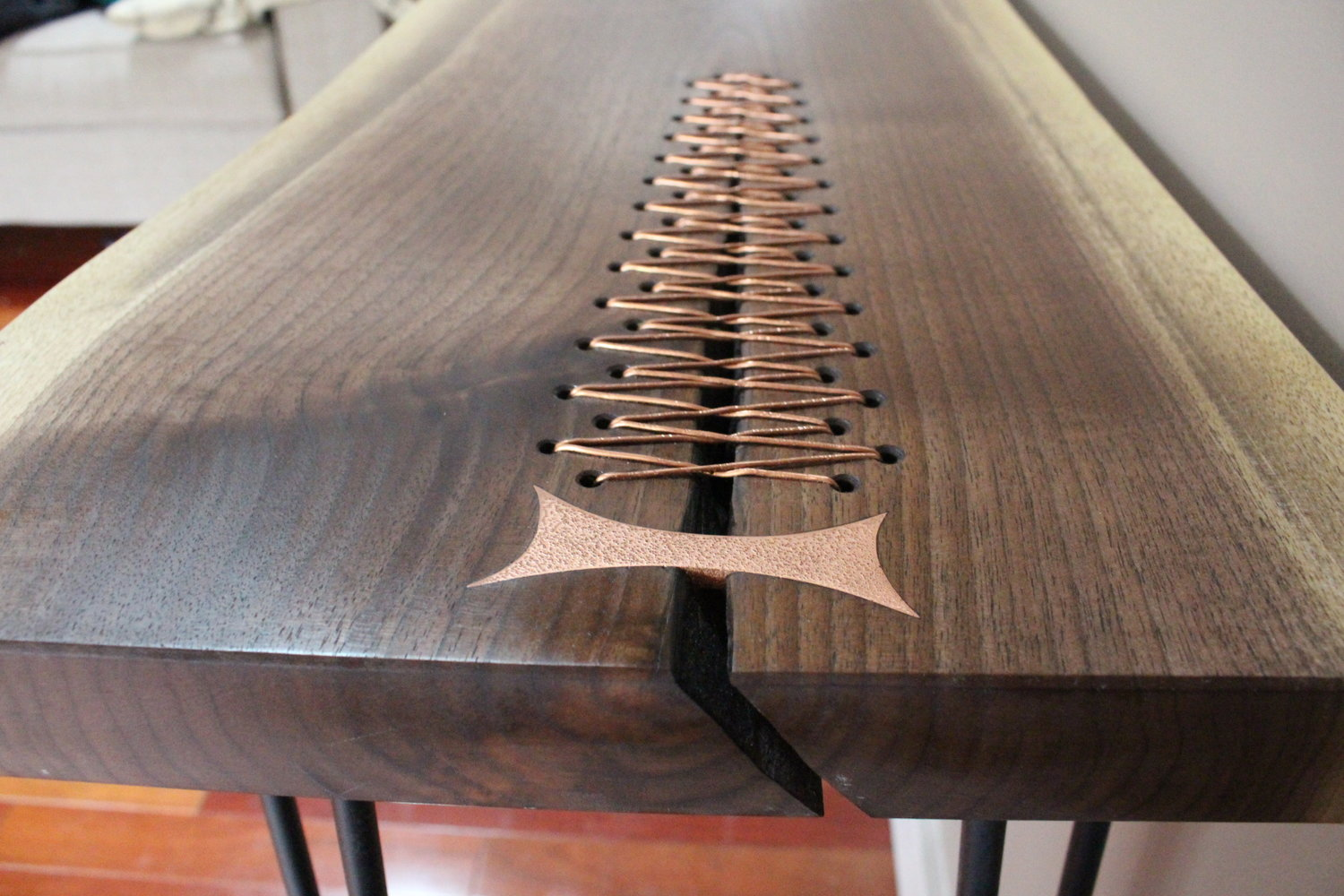 Copper Stitching Table