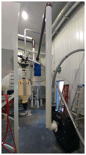 Clipper Seed Cleaner, Barley Pearler, ad Flour Mill System Installation