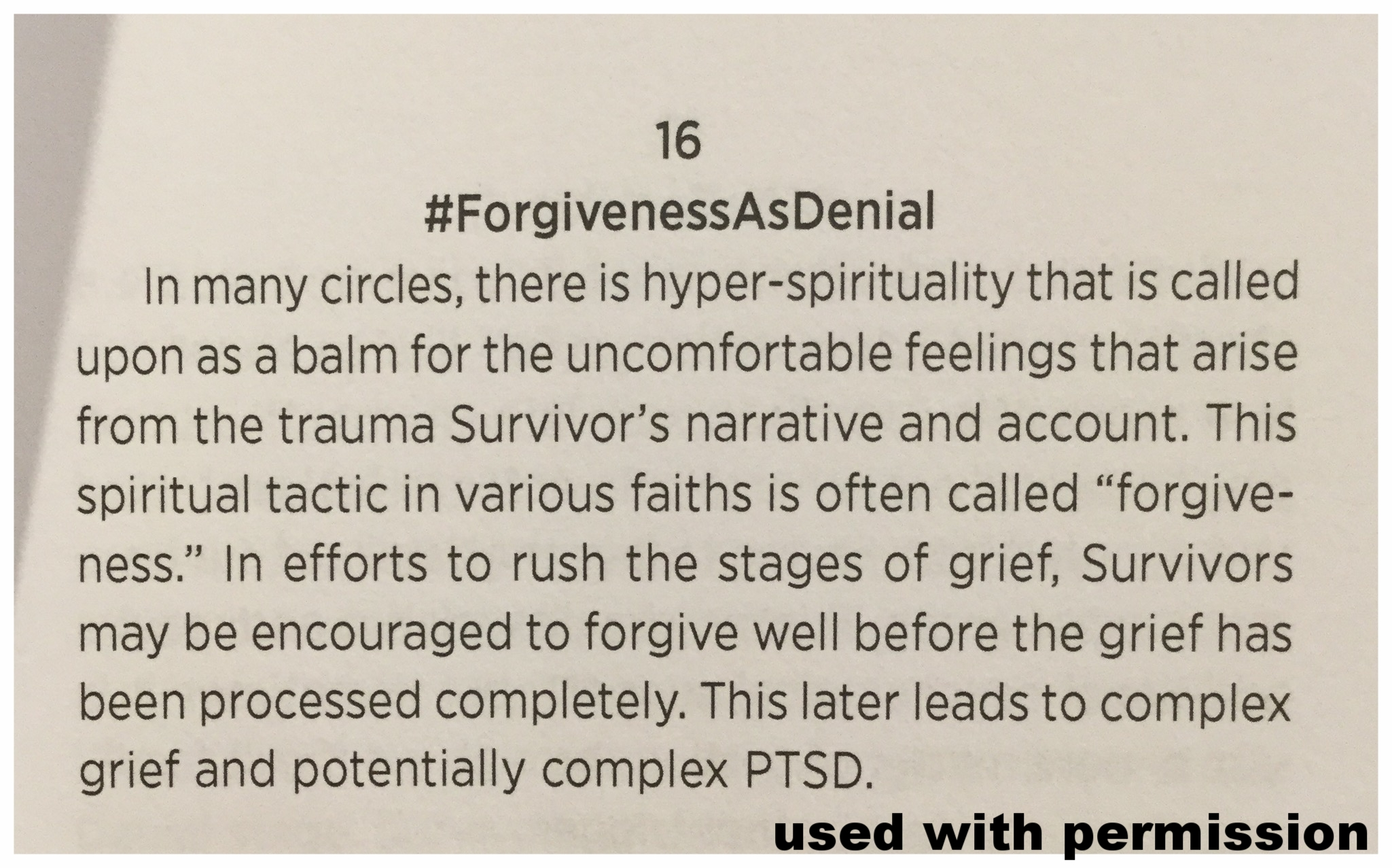 Recovery In Real Time: Forgiveness as Denial