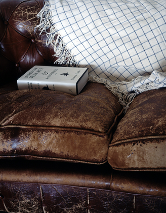 BOOK ON COUCH