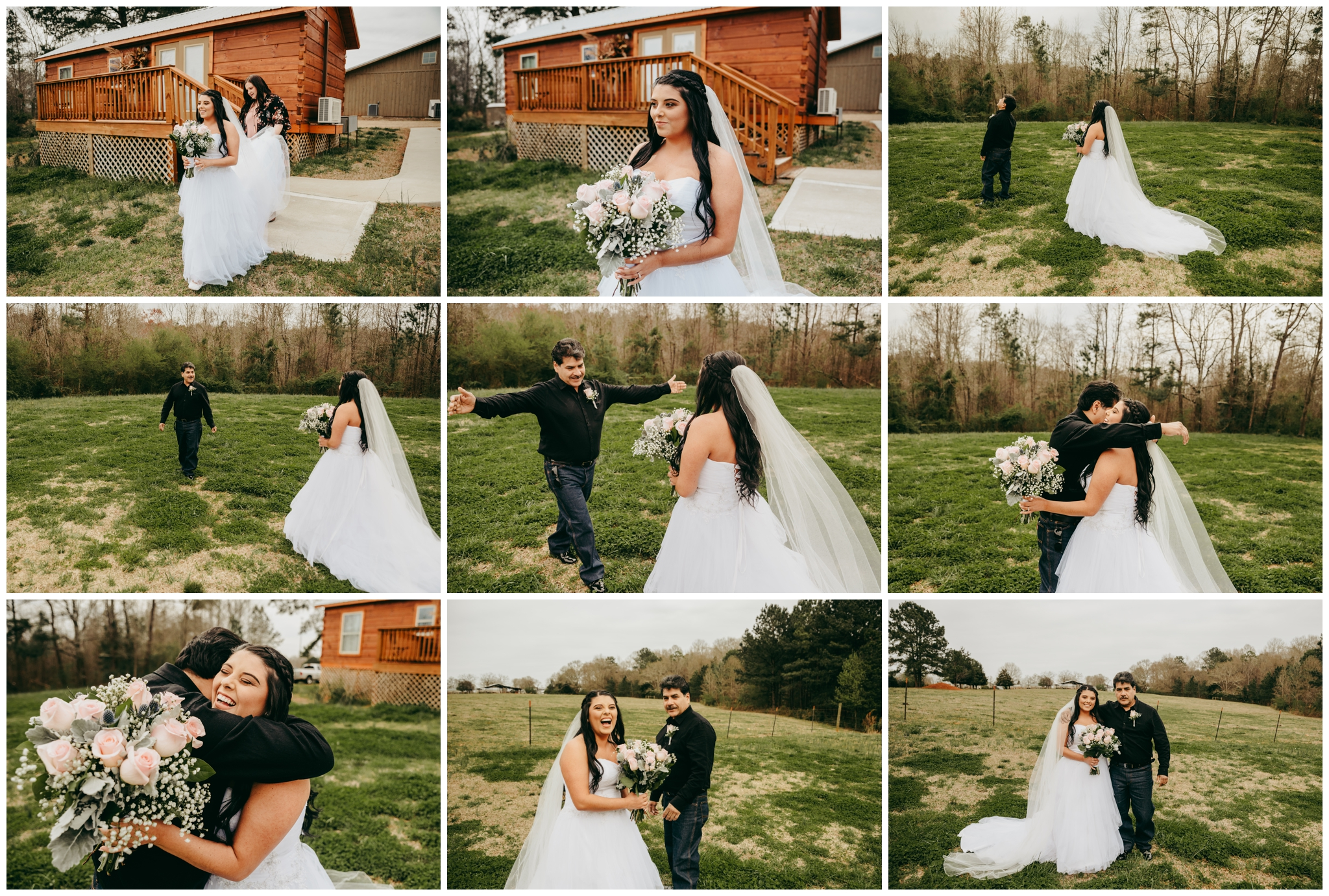 Veronika's first look with her father had me in tears. He gracefully hugged his sweet little princess one last time before preparing to give her away …