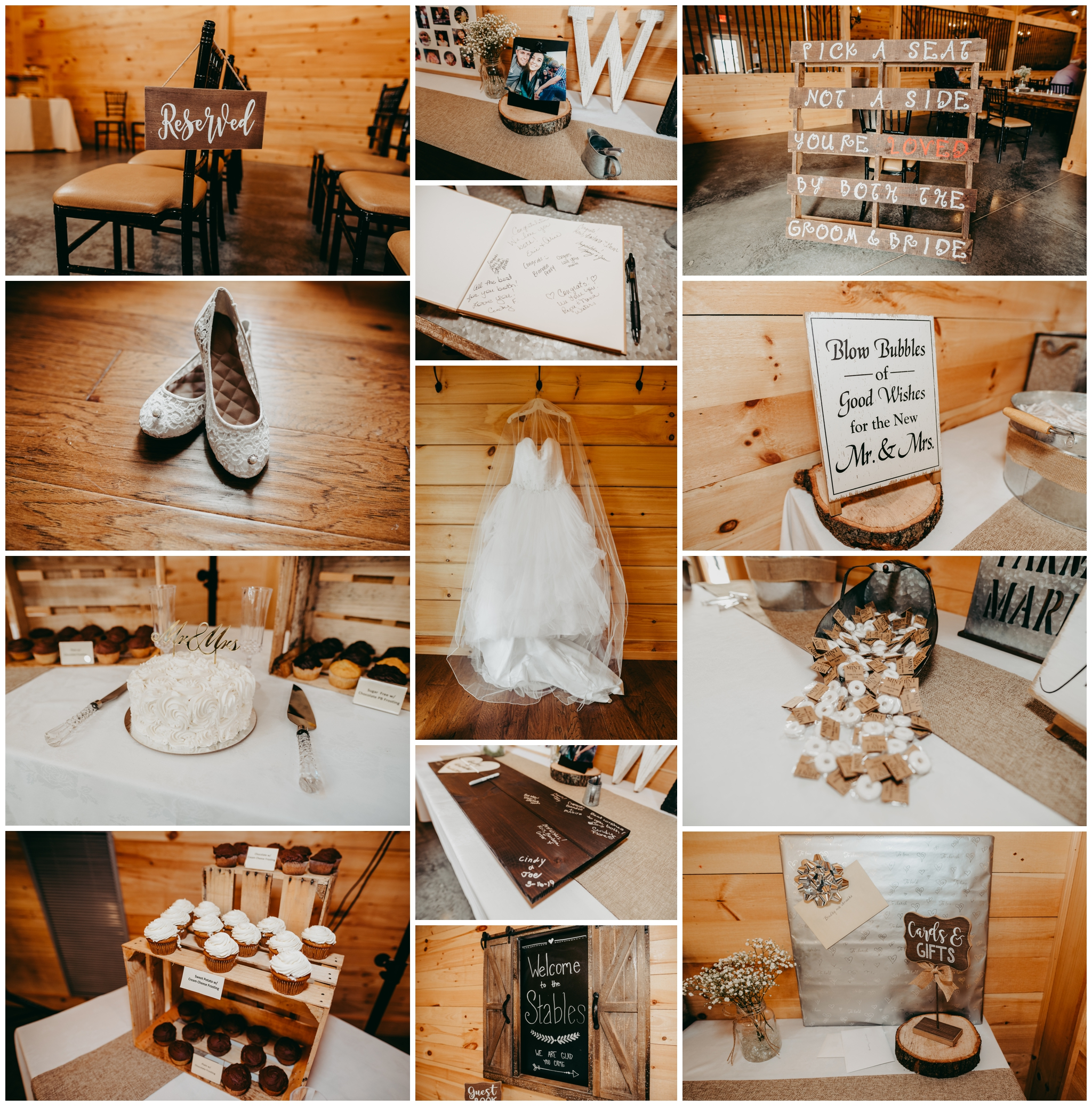 The details were simple, but yet so beautiful. The browns fit the rustic theme perfectly …