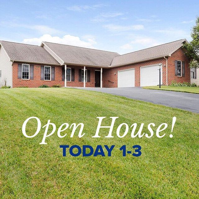 Open house today from 1-3 at 926 Lindia Dr Chambersburg! 3 bed, 2.5 bath, two car garage, partially finished basement, loads of storage space.. ready for its new owner!