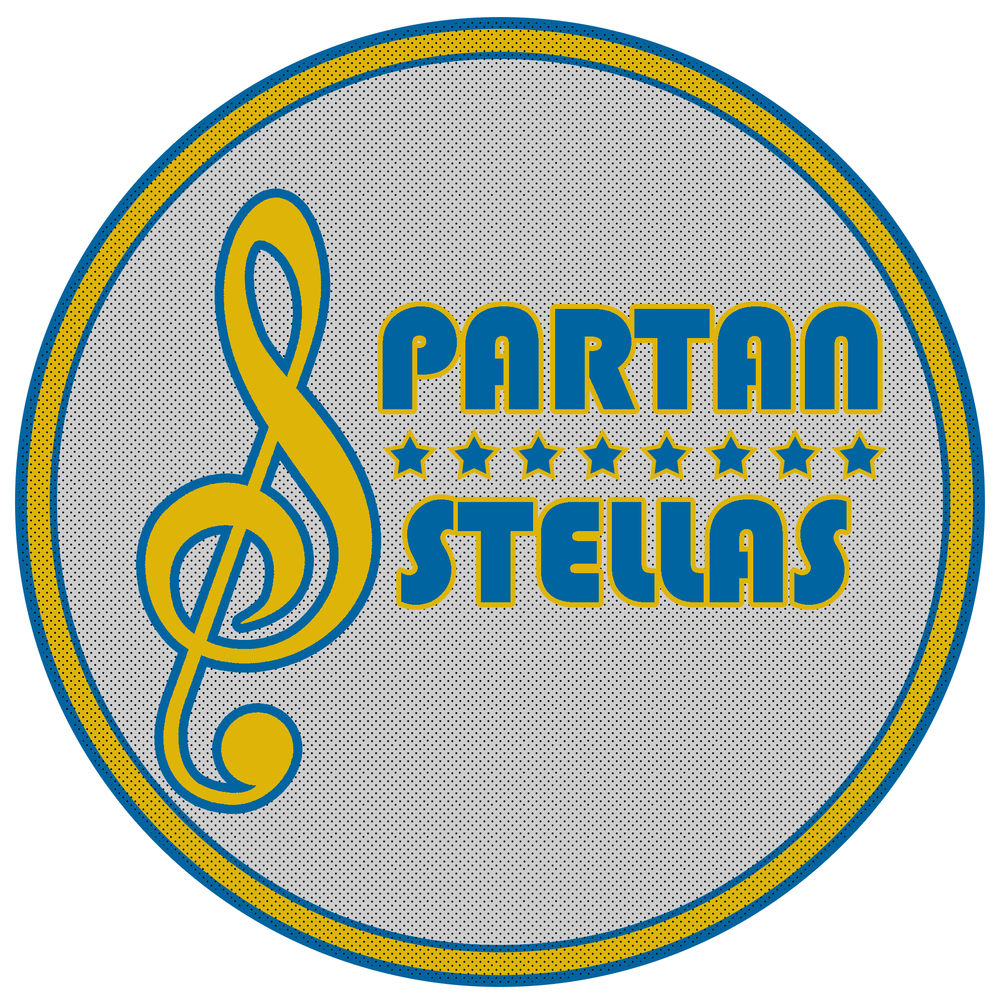 "Logo I designed for an On-campus all women choir. I wanted to clearly represent that this was a musical group but alsoto keep the design minimal and scalable. Using the musical note As the ""S"" in Spartan clearly communicated the musical intent of the design. The colors are the San Jose State Colors down to the color codes."